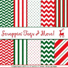 Printable Traditional Christmas Scrapbook by ScrappinTagsAndMore