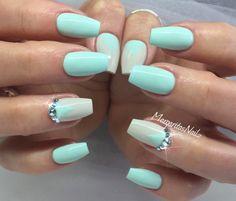Light Mint Blue with Grey Biege