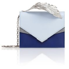 Ralph&Russo Alina Clutch (3400 PAB) ❤ liked on Polyvore featuring bags, handbags, clutches, blue, blue purse, feather handbag, feather purse, blue handbags and blue clutches