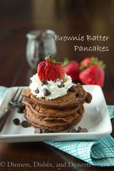 Getting out of bed becomes a lot easier when you smell Brownie Batter Pancakes frying in the pan.