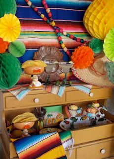 Fun Cinco de Mayo inspiration!  Great way to re-use furniture as a focal point for a party.