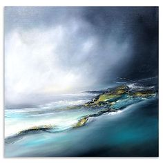 Check out these utterly stunning paintings by Alison Johnson - Captured Flow, Oil and Gold leaf on Linen, 40 x 40 cm