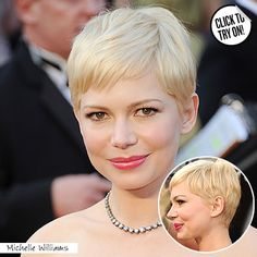 Michelle Williams looks so beautiful with this short crop cut! Love it