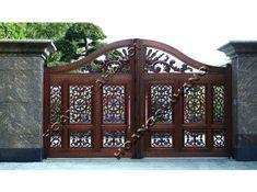 nhomduc Cổng biệt thự và hàng rào đồng đúc đồng bộ