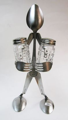 silverware art | Forked Up Art- - Spoon Salt & Pepper Napkin Back pack