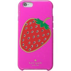 Kate Spade New York Embellished Berry Resin iPhone 6 and 6s Case... ($36) ❤ liked on Polyvore featuring accessories, tech accessories, phone cases, pink and kate spade