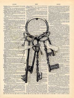 Dictionary Art - Keys