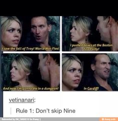 I skipped nine at first but i'm catching up now and he's awesome