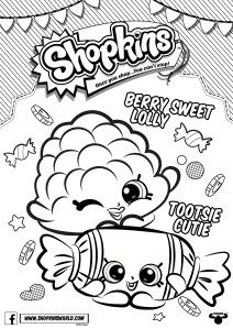 Made By A Princess: Shopkins Coloring Pages Season 4 Berry Sweet Lolly  Tootsie Cutie
