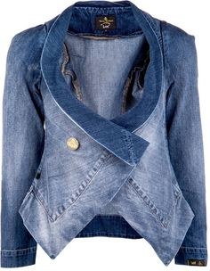 Secondo il Feng Shui Fashion Styling questa gonna unisce le energie sportive del legno e la creatività dell'acqua! Vivienne Westwood Anglomania Blue Fitted Denim Jacket