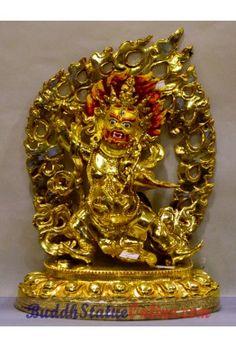 Vajrapani Full Gold Fine Statue