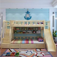 "Awesome ""bunk bed designs for teens"" detail is available on our site. Check it o… Awesome ""bunk bed designs for teens"" detail is available on our site. Check it out and you wont be sorry you did. Wood Bunk Beds, Modern Bunk Beds, Bunk Beds With Stairs, Kids Bunk Beds, Kids Beds For Boys, Kids Beds Diy, Boys Bunk Bed Room Ideas, Lofted Beds, Kids Bedroom Boys"