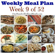 Weekly Meal Plan – Menu Plan Ideas Week 9 of 52