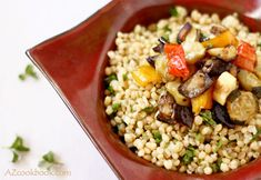 Wheat Berry Salad with Roasted Vegetables | AZ Cookbook - Food From Azerbaijan & Beyond »