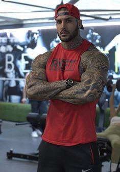 Mens Body Tattoos, Hot Guys Tattoos, Sexy Tattooed Men, Club Outfits For Women, Viking Beard, Bad Boys, Biker, Hunks Men, Inked Men