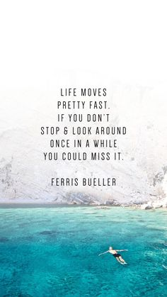 These phone wallpaper quotes to inspire your New Year will motivate your New Years Resolutions. Ferris Bueller quotes - Phone Wallpaper Quotes To Inspire Your New Year - Writing From Nowhere Now Quotes, Life Quotes Love, Great Quotes, Quotes To Live By, Quotes On Hope, New Me Quotes, Future Quotes, Wife Quotes, Friend Quotes
