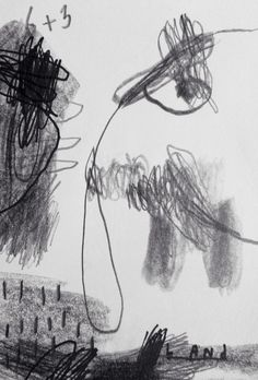 Deny pribadi - Elephant land, pencil on paper