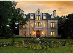 French chateau, 3911 Beverly Dr, Dallas, TX. 8 bed, 8.5 bath, 12,250sqft with a four-story main staircase