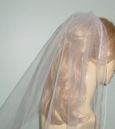First Communion Veil White Beaded Headband by AnnLeslie on Etsy