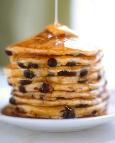 The key to light and fluffy pancakes? Don't overmix the batter -- it should have small to medium lumps.