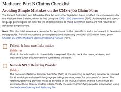 Use this checklist to help avoid simple mistakes on the Medicare Part B CMS-1500 claim form.