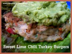 Inspired-Housewife: Sweet Chili Lime Turkey Burgers
