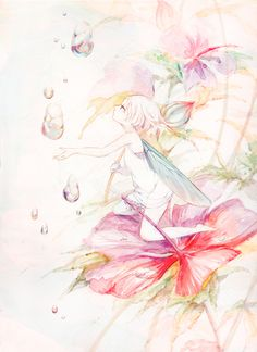 Kai Fine Art is an art website, shows painting and illustration works all over the world. Watercolor Illustration, Watercolor Art, Copic Art, Postcard Design, Anime Fairy, Anime Style, Manga Art, Unique Art, Amazing Art