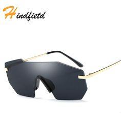 13e854b7789 Hindfield Fashion Men Women Male Sunglasses New Retro Sunglasses Metal Tide  Sunglasses Famous Luxury Brand Designer
