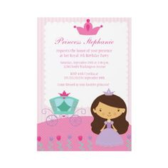This Princess Birthday Party Invitation is so cute!