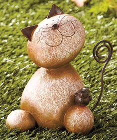 Stone Critters for the Garden: Kitty