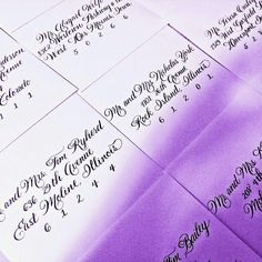 Wedding Envelopes in our Spencerian script ✔  #calligraphy #weddingenvelopes  #envelopes #beautiful  #wedding #weddingideas #weddinginspiration #2015weddings #nationwidecalligrapher #calligraphybyjennifer