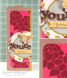 I absolutely love Kristina Werner's designs... this tall card looks just so intricate, but I am pretty sure that it's easy to make!
