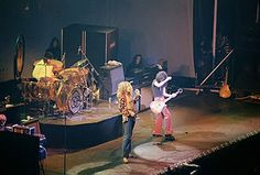 Led Zeppelin - Led Zeppelin were an English rock band formed in London in 1968. The group consisted of guitarist Jimmy Page, singer Robert Plant, bassist and keyboardist John Paul Jones, and drummer John Bonham. The band's heavy, guitar-driven sound, rooted in blues and psychedelia on their early albums, has earned them recognition as one of the progenitors of heavy metal, though their unique style drew from a wide variety of influences, including folk music and blues.齐柏林飞船 (乐团)