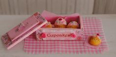 Miniature Cupcake Cookies In A Shabby Chic by LittleThingsByAnna, $18.50