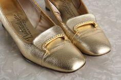 Gold Shoes . High Heel Footwear by VeraVague