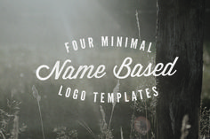 Four Name/Initial Based Logos by jamesfletcher on Creative Market