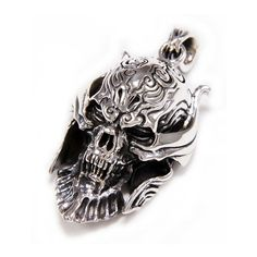Garo/Knight/Japanese Hero/Savior Of The Sterling Silver Pendant/Gothic Pendant/Biker Jewelry/Necklace/Men's/Women's/Charm Silver Skull Ring, Gothic Rings, Men Necklace, Necklace Chain, Skull Pendant, Chains For Men, Wallet Chain, Leather Keychain, Sterling Silver Pendants