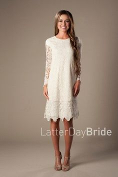 lace modest dresses, the Lacey at LatterDayBride