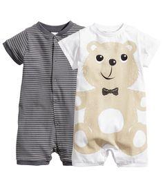 2-pack pajamas, bear :-), h&m
