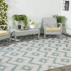 Shop for Safavieh Indoor/ Outdoor Courtyard Grey/ Blue Rug (9' x 12'). Get free shipping at Overstock.com - Your Online Home Decor Outlet Store! Get 5% in rewards with Club O!