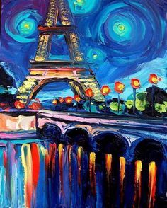 Van Gogh's Effiel Tower.