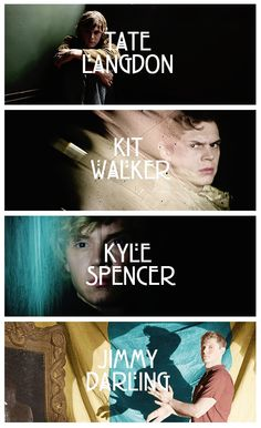 "Evan Peters in ""AHS"" <3 he must to be my husband and give me babies! =D"