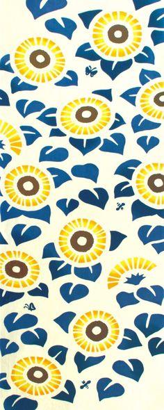 Kenema - Sunflower (The dyed Tenugui)