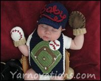 Baseball-Baby-Outfit-Slide Omg I need to find someone who crotchets for my next baby. I need this! Too cute