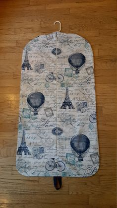 Blue Parisian Hanging Garment Bag, Garment Bag, Bridesmaid Gift by CarryItWell on Etsy Air Balloon, Balloons, Rebecca Brown, Etsy Cards, Paris Cafe, Jungle Print, Garment Bags, Chicago Restaurants, Dog Show
