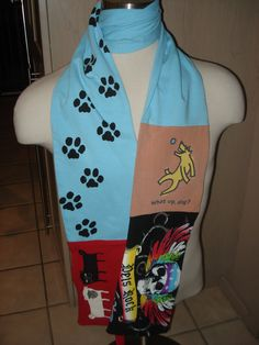 Pets Rock Upcycled T-Shirt Scarf by SewcialStudies101 on Etsy