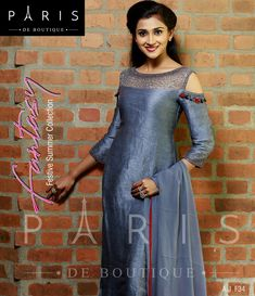 Fill up your wardrobe with trendy collections. An exquisite outfit with beautiful work of and Dress Neck Designs, Fancy Blouse Designs, Stylish Dress Designs, Stylish Dresses, Fashion Dresses, Stylish Outfits, Designer Party Wear Dresses, Kurti Designs Party Wear, Indian Designer Outfits