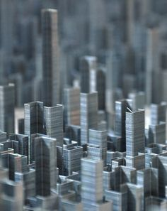 British artist Peter Root makes incredibly intricate sculptural cities out of everyday objects