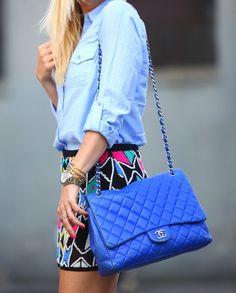 Blue Chanel bag Chanel Tote 9f0d8f753f