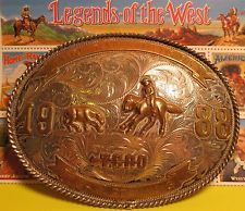 HUGE STERLING FRONT CHAMPION 1988 SILVER TEAM PENNING Belt Buckle MAKE OFFER $295.00 or Best Offer Free shippingItem image